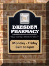 Dresden Pharmacy Hours Plaque