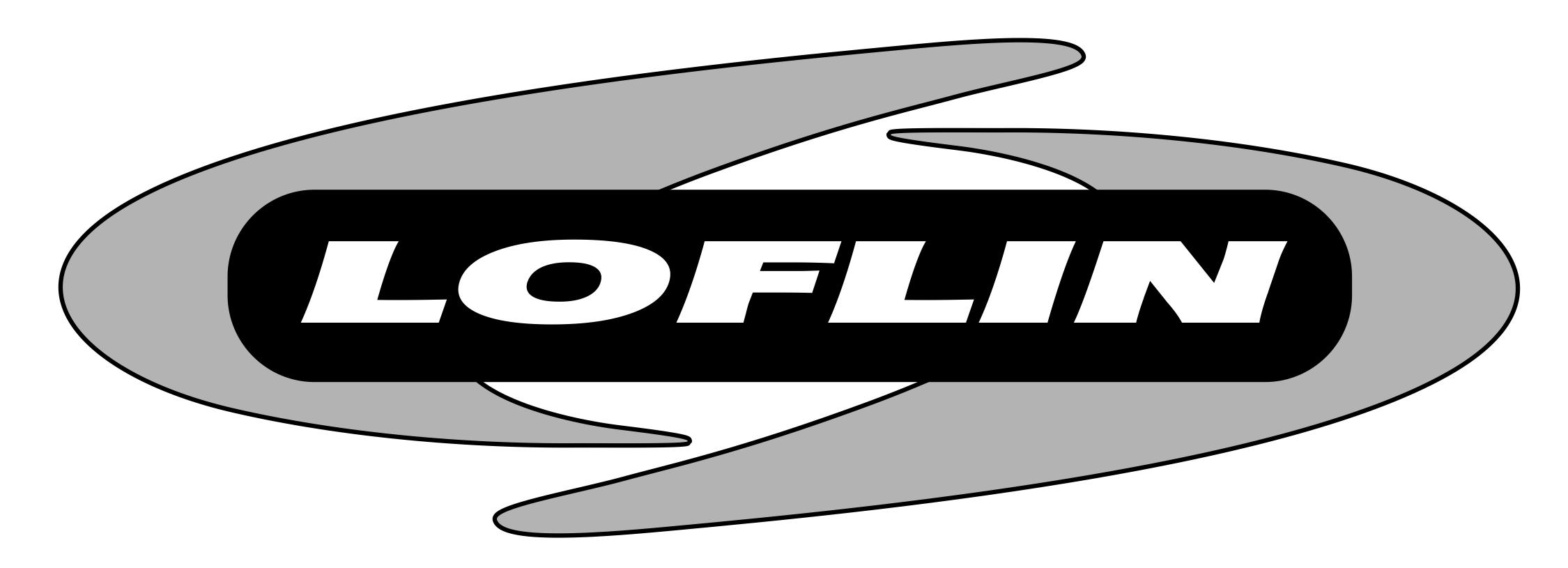 logo design loflin heating air by elliott design