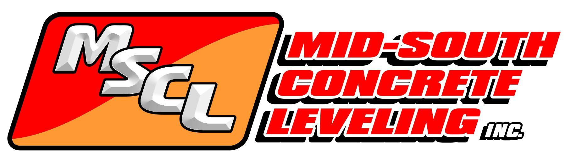 logo design mid south concrete leveling by larry elliott design